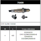 O2 Sensor Oxygen Sensor Lambda Sensor Sonda Sensor BOSCH 0258006035