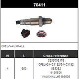O2 Sensor Oxygen Sensor Lambda Sensor Sonda Sensor BOSCH 0258006176