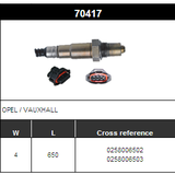 O2 Sensor Oxygen Sensor Lambda Sensor Sonda Sensor BOSCH 0258006502/0258006503