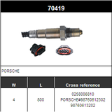 O2 Sensor Oxygen Sensor Lambda Sensor Sonda Sensor BOSCH 0258006810