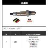 O2 Sensor Oxygen Sensor Lambda Sensor Sonda Sensor BOSCH 0258006063