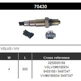 O2 Sensor Oxygen Sensor Lambda Sensor Sonda Sensor BOSCH 0258006199
