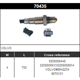 O2 Sensor Oxygen Sensor Lambda Sensor Sonda Sensor BOSCH 0258006448/0258006913/0258006914