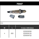 O2 Sensor Oxygen Sensor Lambda Sensor Sonda Sensor BOSCH 0258006099/0258006100/0258006722