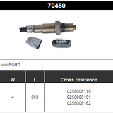 O2 Sensor Oxygen Sensor Lambda Sensor Sonda Sensor BOSCH 0258006119/0258006161/0258006162