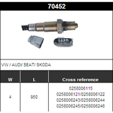 O2 Sensor Oxygen Sensor Lambda Sensor Sonda Sensor BOSCH 0258006115/0258006121/0258006122/0258006243/0258006244/0258006245/0258006246