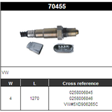 O2 Sensor Oxygen Sensor Lambda Sensor Sonda Sensor BOSCH 0258006845/0258006846