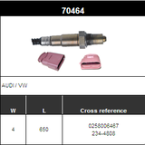 O2 Sensor Oxygen Sensor Lambda Sensor Sonda Sensor BOSCH 0258006467 DENSO 234-4808