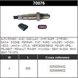 O2 Sensor Oxygen Sensor Lambda Sensor Sonda Sensor BOSCH 0258006402/0258986602