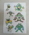change color temporary tattoo sticker