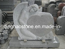 Heart Style Granite Headstone with Carving Angel (DH-T054)