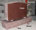 Red Stone Granite Headstone (CH-A21)