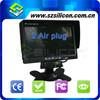 Professional 7 inch Digital Car Monitors 2 Aviation connector Inputs