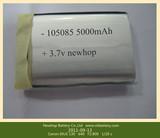 105085 3.7V 5000mAh Battery, Lithium Polymer Battery, 3.7V Rechargeable Battery