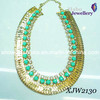 Big Gold Plated Chain with Stone Fashion Necklace/Fashion Jewelry (XJW2130)