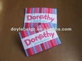 woven label with fashion brands