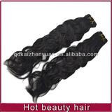 hot sell unprocess spanish wave human hair extension weft