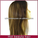 """14"""" ombre colors straight full lace wig"""