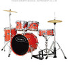 lacquer drum set JW205-TE musical instruments