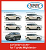 (2007-2009) car body side sticker for toyota highlander