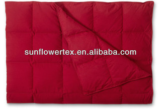 Soft Polyester Shell down throw blanket