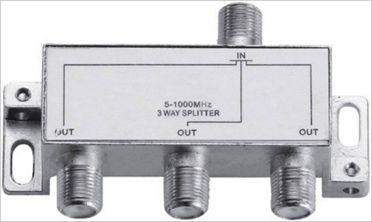 CATV Indoor 3 Way /Port Splitter