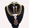Fashion Brass Copper Jewelry Set with Fully Rhinestones (XPK-JS-038)