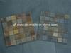 Natural Multicolor Slate Mosaic, Cube Stone, Slate Mosaic Tile