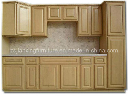 Modern Solid Wood Kitchen Cabinet (#030)