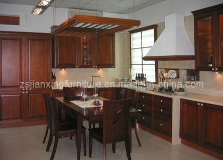 Modern Solid Wood Kitchen Cabinet (#029)