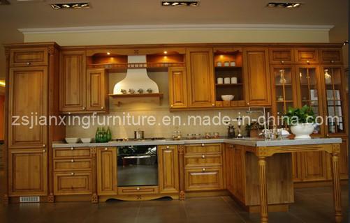 Modern Solid Wood Kitchen Cabinet (#028)