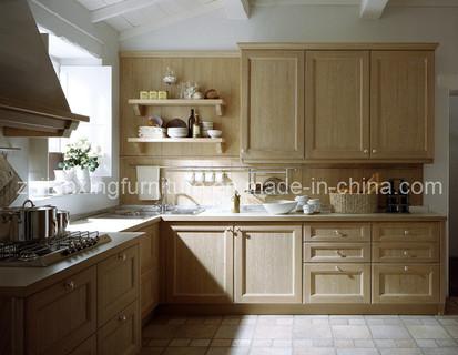 Modern Solid Wood Kitchen Cabinet (#024)