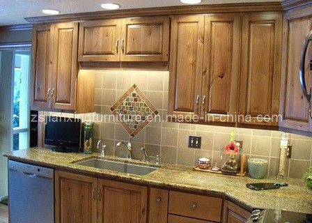 Solid Wood Kitchen Cabinet (#004)