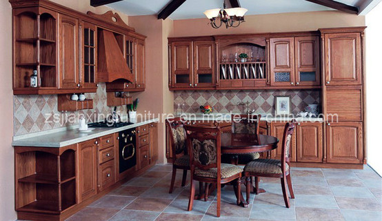 Solid Wood Kitchen Cabinet (#008)