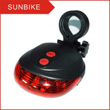 5LED red bicycle laser light AAA battery
