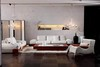 Modern Leather Sofa Set 2013, Solid Wood, White Sofa (SL1029)