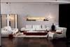 Modern Leather Sofa Set 2013, Solid Wood, White Sofa (SL1029)
