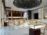 custom metal modern jewelry display showcase