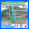 Vacuum belt filter press for iron tailings