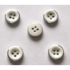 Polyester Button with metal rim