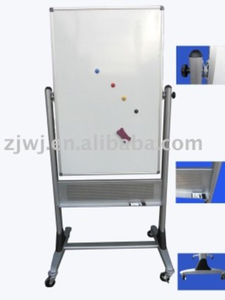 3d interactive aluminum Movable magnetic dry erase whiteboard with wheels stand
