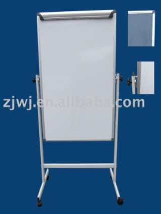 Mobile Flip chart portable double sided magnetic whiteboard price with stand.