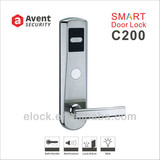 C200 smart card hotel door lock for interior door