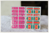 hot stamping 3d minx nail polish stickers