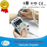 blood flow detector,vascular doppler with waveform display built-in battery