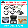 4GB RAM CF19+MB Star C4 SD Connect +HDD Mercedes Star Diagnosis Xentry dts monaco System Compact 4 Multiplexer For Benz Diagnose