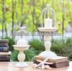 European vintage cast iron metal birdcage candle holder