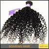 unprocessed wholesale virgin malaysian hair curly weave 100% human remy hair unprocessed loose curly wavy hair #1b black