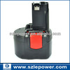 Factory price! Cordless drill Battery for Bosch 9.6V 3ah Ni-CD PSR 960 GSR 9.6 23609 32609 32609-RT BAT048 BAT100