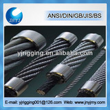 crane purpose steel stranded wire rope for crane 6x24+7FC